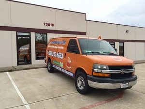 Water Damage and Mold Removal Vehicle At Headquarters