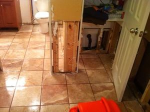 Sewage Backup damage restoration