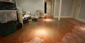 Flooded Home After A Pipe Burst